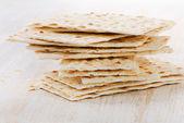 Matzoh - jewish passover bread — Stock Photo