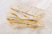 Matzoh - jewish passover bread — Stock Photo