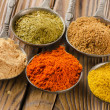 Assortment of powder spices — Stock Photo #47217169