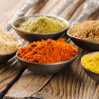 Assortment of powder spices — Stock Photo #47217285