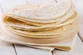 Wheat Flour Tortillas — Stock Photo