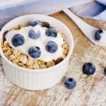 Muesli and yogurt with fresh berries — Stock Photo #47931417