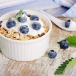 Muesli and yogurt with fresh berries — Stock Photo #47931419