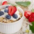 Muesli and yogurt with fresh berries — Stock Photo #47931421