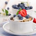 Muesli and yogurt with fresh berries — Stock Photo #47931447