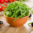 Fresh arugula salad — Stock Photo #48465095
