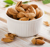 Almond nuts on table — Photo