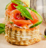 Canape  salmon — Stock Photo