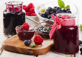 Jam with berries — Stock Photo