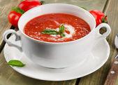 新鲜番茄汤 — 图库照片