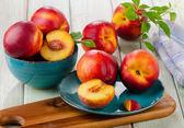Ripe juicy nectarines — Stock Photo