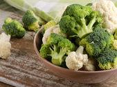 Brócolis e couve-flor — Foto Stock