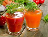 Healthy vegetable  juices — Stok fotoğraf