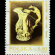 POLAND - CIRCA 1981: Stamp printed in Poland shows jug with a handle in the form of a dog, circa 1981 — Stock Photo #12165562