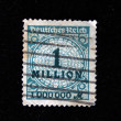 GERMANY - CIRCA 1930s-1940s: A stamp printed in Deutsches Reigh (Germany) shows sign 1 million, circa 1930s-1940s - Stock Photo