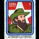 Постер, плакат: CUBA CIRCA 1974: A Stamp printed in Cuba devoted 15 years of disappearance of Comandante Camilo Cienfuegos circa 1974