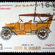 UMM QIWAIN- CIRCA 1968: A stamp printed in one of the emirates in the United Arab Emirates shows vintage car Adler-12 - 1911 year,full series - 48 of stamps, circa 1968 — Stock Photo