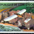 IVORY COAST - CIRCA 1977: A stamp printed in The Ivory Coast shows The Blériot XI is the aircraft in which, Louis Blériot made the first flight across the English Channel, circa 1977. — Stock Photo #12160829