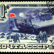 USSR - CIRCA 1984: Soviet postage stamp dedicated to the 50th anniversary of the heroic expedition ship — Stock Photo