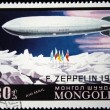 MONGOLIA- CIRCA 1977: A stamp printed in Mongolia shows Airship Zeppelin - 1931, series, circa 1977 — Stock Photo