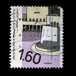 ISRAEL - CIRCA 1960s: A stamp printed in Israel devoted to architecture in Israel, circa 1960s — Stock Photo