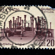 Stock Photo: CEYLON - CIRC1966: stamp printed in Ceylon (present time Sri Lanka) shows architectural ruins, circ1966