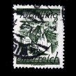 AUSTRIA - CIRCA 1930s: A stamp printed in Austria shows Austrian city, circa 1930s — 图库照片