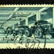CHINA - CIRCA 1957: A stamp printed in China shows automobile works, circa 1957 — Stock Photo