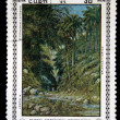"CUB- CIRC1972: stamp printed in Cubshows image of artist Balance Hidrico ""Forest and creek"", series, circ1972 — Stock Photo #12161029"