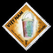 VIETNAM - CIRCA 1986: A stamp printed in Vietnam shows wicker basket, circa 1986 — Stock Photo