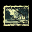 POLAND - CIRCA 1938: A stamp printed in Poland shows view of Belweder, circa — Stock Photo