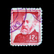 UNITED STATES OF AMERICA - CIRCA 1963: A stamp printed in the United States of America shows Benjamin Harrison, circa 1963 — Stock Photo #12161096