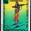 MONGOLIA - CIRCA 1980: A stamp printed in Mongolia shows biathlon, circa 1980 — Stock Photo