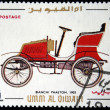 UMM AL QIWAIN - CIRCA 1968: A stamp printed in one of the emirates in the United Arab Emirates shows vintage car Bianchi Phaeton - 1903 year, full series - 48 of stamps, circa 1968 — Stock Photo