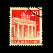 GERMANY - CIRCA 1950s: A stamp printed in Germany shows Brandenburg Gate, circa 1950s — Stok fotoğraf