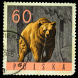 POLAND - CIRCA 1966: A stamp printed in Poland shows brown bear - Ursus arctos, circa 1966 - Stock Photo