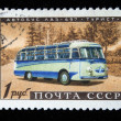 USSR - CIRC1960s: stamp printed in USSR shows Bus LAZ-697 Tourist, circ1960s — Stock Photo #12161250