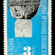 BULGARIA - CIRCA 1980s: A stamp printed in Bulgaria shows capital of a column in Preslav, circa 1980s - Stock Photo