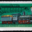 USSR - CIRCA 1978: A stamp printed in USSR shows cargo steam locomotive of type 0-3-0 series Gv, stamp from series, circa 1978 — Stock Photo