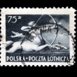 POLAND - CIRCA 1958: A stamp printed in Poland shows centaur, circa 1958 — Stock Photo