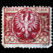 POLAND - CIRCA 1950s: A stamp printed in Poland shows Coat of arms of Poland, circa 1950s — Stock Photo