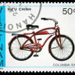 Stock Photo: VIETNAM - CIRC1988: stamp printed by Vietnam shows bicycle ColumbiRX5, circ1988