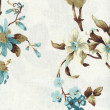 Cotton fabric with floral pattern — Stock Photo
