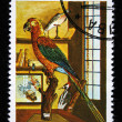 Royalty-Free Stock Photo: CUBA - CIRCA 1978: A stamp printed in Cuba shows the Bird Cuban Red Macaw - Ara tricolor, stamp is from the series, circa 1978