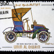 UMM AL QIWAIN - CIRCA 1968: A stamp printed in one of the emirates in the United Arab Emirates shows vintage car De Dion Bouton - 1904 year, full series - 48 of stamps, circa 1968 — Stock Photo