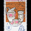 CZECHOSLOVAKIA - CIRCA 1978: A stamp printed in Czechoslovakia shows decorative utensils from a collection of the Prague museum of the industry, circa 1978 — Stock Photo