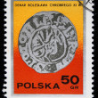 POLAND - CIRCA 1970s: A stamp printed in the Poland shows denar by Boleslav Brave, series, circa 1970s - Stock Photo