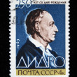 USSR - CIRCA 1963: A stamp printed by USSR shows Denis Diderot, circa 1963 - Stock Photo