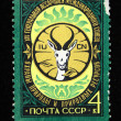 USSR - CIRCA 1978: A stamp printed in the USSR devoted to the General Assembly of International Union for Conservation of Nature and Natural Resources - Ashgabat, circa 1978 — Stock Photo #12161645
