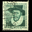 CHILE - CIRCA 1958: A stamp printed in Chile devoted to the sixth centenary of the foundation of Osorno shows Garsia de Mendosa, circa 1958 — Stock Photo